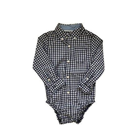 Bodie Camisa Social CARTER'S Infantil Xadrez Azul e Branco