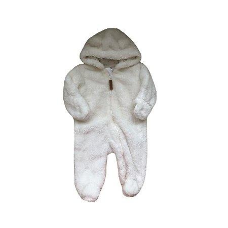 Macacão CARTER'S Infantil Branco Peludo
