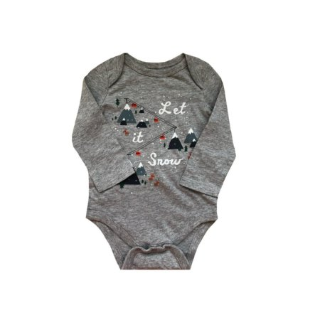 Bodie baby GAP Infantil Cinza LET IT SNOW
