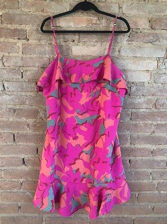 Vestido A COLLECTION Feminino Pink Estampado