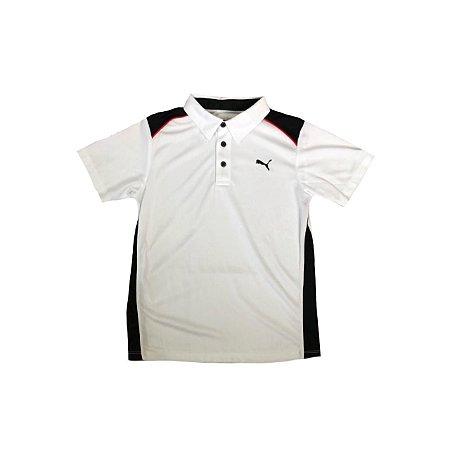 Camiseta Polo PUMA  Branca e Preta DRY FIT