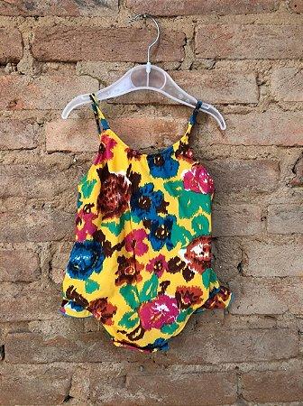Maio SALINAS Infantil Colorido com Fundo Amarelo