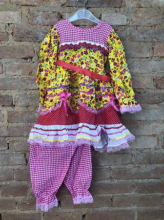 Vestido Bambole Festa Junina com Shorts