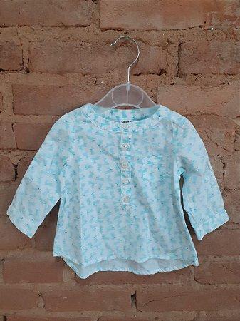 Camisa CARTER`S Infantil Branca com Estampa Azul Coelhos