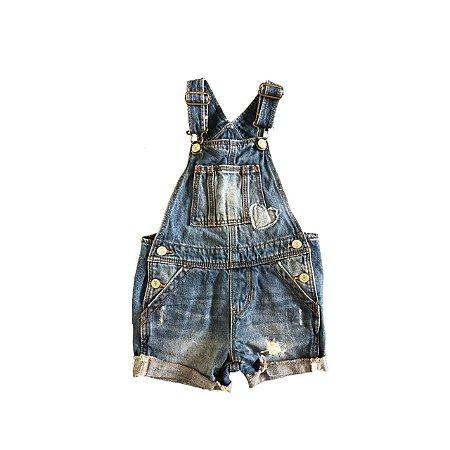 Jardineira Jeans baby GAP Infantil