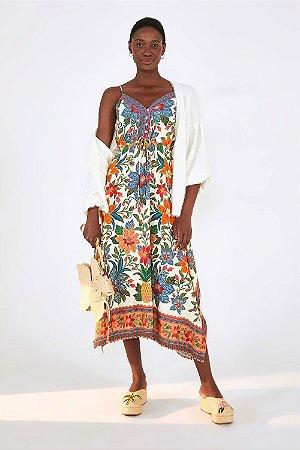 Vestido Cropped Flor de Arara Farm