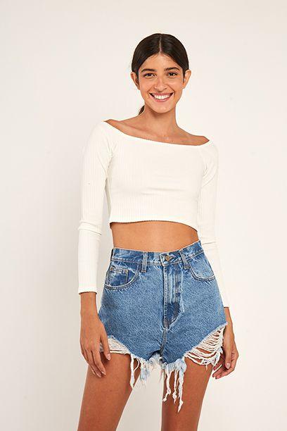 Short Curva Refarm Jeans Farm