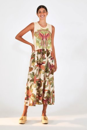 Vestido Cropped Silk Brasil Artesanal Farm