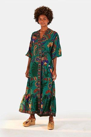 Vestido Kimono Tapeçaria Tropical Farm