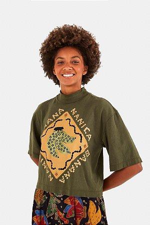 T-shirt Cropped Gola Silk Banana Farm