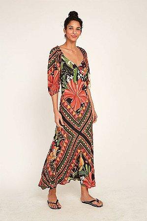 Vestido Cropped Lenço Flor Farm