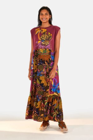Vestido Cropped Silk Gaviao Real Farm