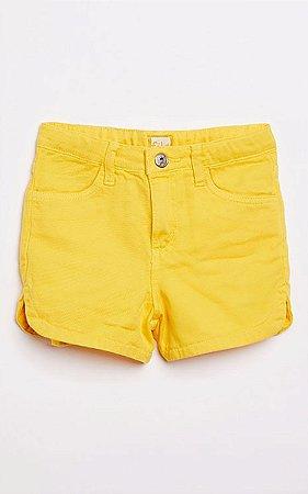 Short Sarja Color Amarelo Fabula
