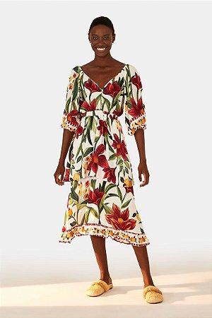 Vestido Cropped Floral Padang Farm
