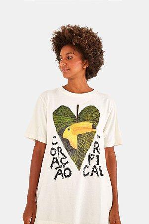 T-shirt Media Coração Tropical Farm
