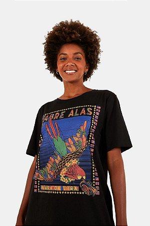 T-shirt Media Silk Abre Asas Farm