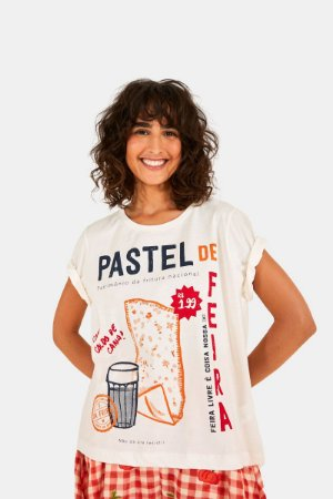 T-shirt Fit Silk Pastel de Feira Farm
