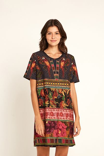 Vestido T-shirt Patch Lindeza Farm