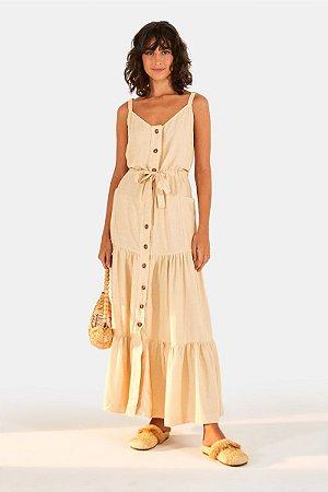 Vestido Cropped Maria Botoes Farm