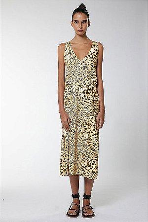 Vestido Regata Decote V Onça Dots Animale