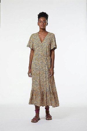 Vestido Midi Envelope Onça Caramelo OAK Animale