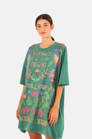 Vestido T-shirt Silk Natureza Farm