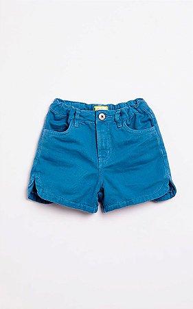 Short Sarja Color Azul Fabula