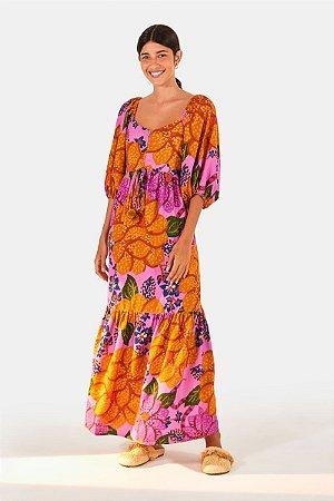 Vestido Cropped Floral Onçado Farm