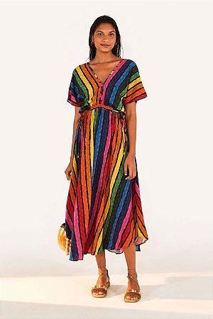 Vestido Cropped Voo Colorido Listra Farm