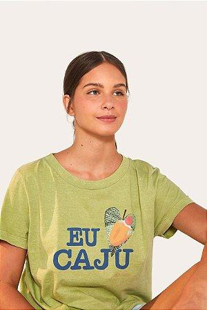 T-shirt Silk Fit Eu Amo Caju Farm