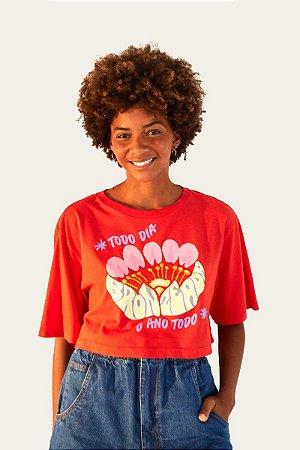 T-shirt Cropped Bronzeada Farm