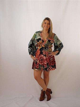 Vestido Curto Chita Arco Íris Farm
