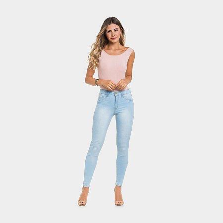 Calça Jeans Claro com Elastano Lunender