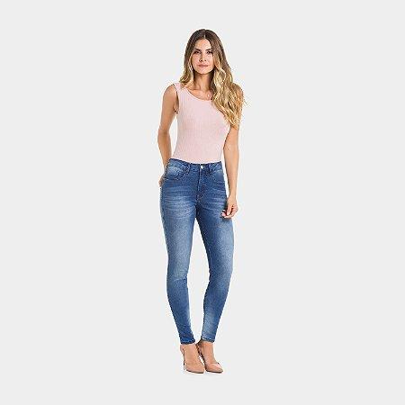 Calça Jeans com Elastano Destroyer Medio Lunender