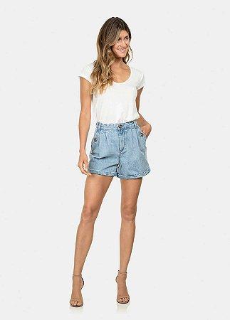 Shorts Jeans Cintura Alta Lez a Lez