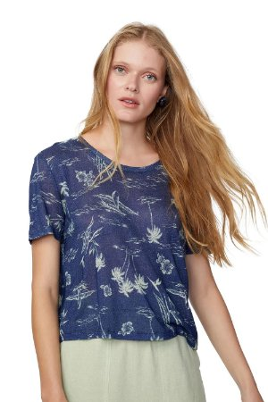 T-shirt Basic Estampa Azul FYI