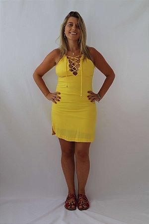Vestido Curto Amarelo Puramania