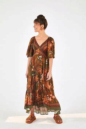 Vestido Cropped Selva de Onça Farm