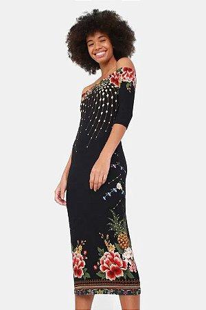 Vestido Midi Delicadeza de Flor Farm
