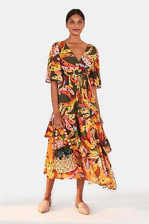 Vestido Cropped Estampado Bananíssima Farm