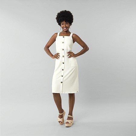 Vestido Malha Stretto Twist Branco Off Lunender