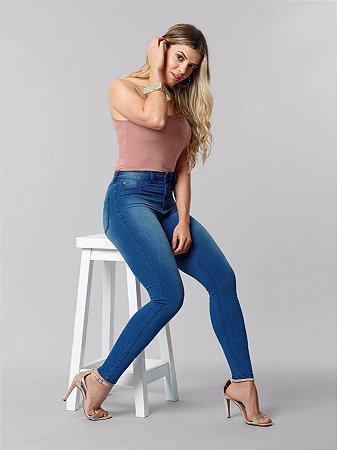 Calça Skinny com Elastano Fit For Me Jeans Medio Lunender
