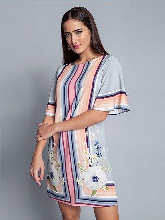 Vestido Tecido Rayon Bali Curto Gode Lez a Lez