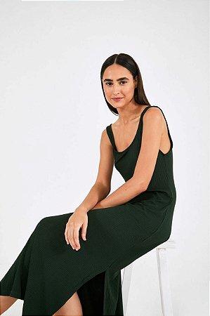 Vestido Midi de Malha Farm Verde