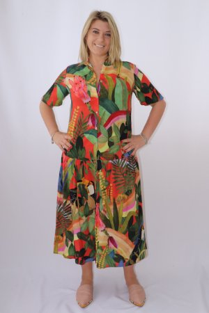 Vestido Camisa Floresta Legal Farm