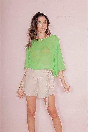 Camiseta Ampla Verde Graviola Open