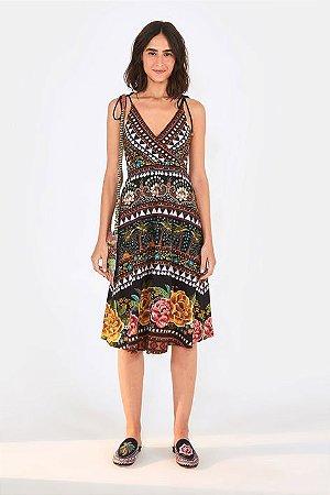 Vestido Brilho Tropical Farm
