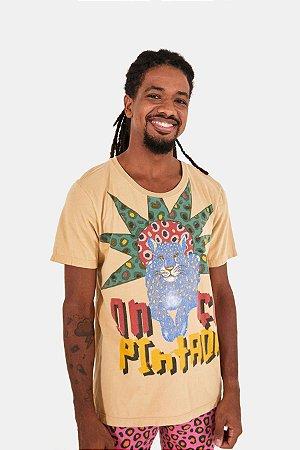T-shirt Silk Onça Pintada Bege Rugido Farm