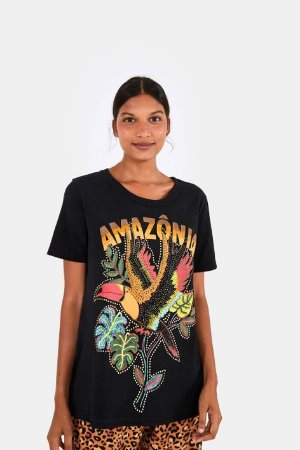 T-shirt Media Amazônia Preta Farm