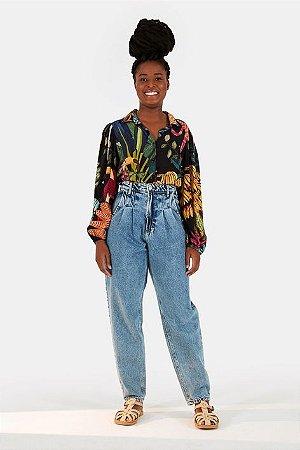 Calça Oval Pregas Refarm Jeans Farm